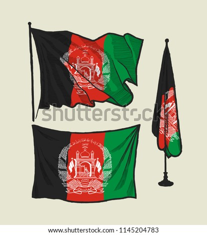 stock-vector-flag-of-afghanistan-on-the-