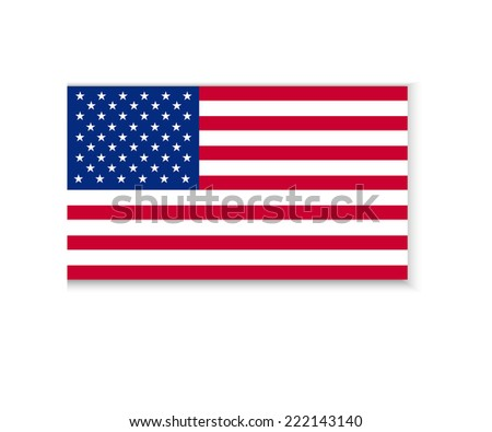 Flag of America - stock vector