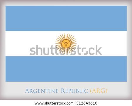 Flag of Argentina.Argentina flag vector illustration. - stock vector