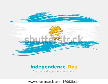 Flag of Argentina. Independence Day - stock vector