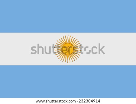 Flag of Argentina vector illustration - stock vector