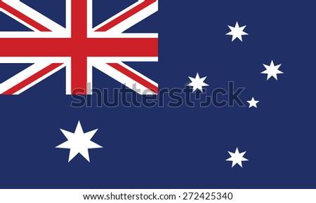 Flag of Australia - stock vector
