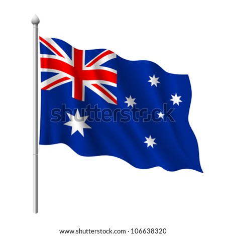 Flag of Australia, vector illustration - stock vector