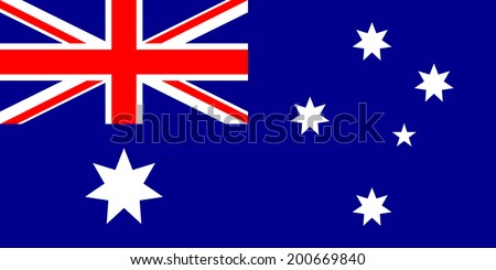 Flag of Australia. Vector illustration. - stock vector
