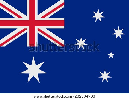 Flag of Australia vector illustration - stock vector