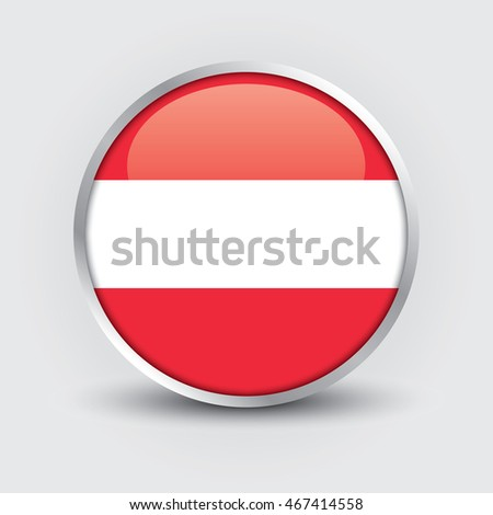 Flag of Austria glossy button