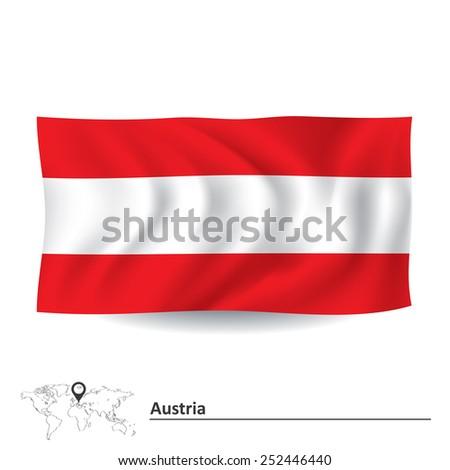 Flag of Austria - vector illustration - stock vector