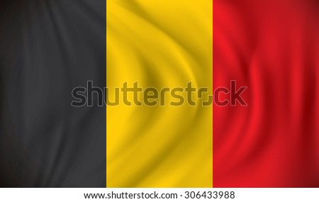 Flag of Belgium - vector illustration - stock vector