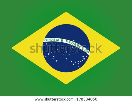Flag of Brazil. Vector. Accurate dimensions, element proportions and colors.