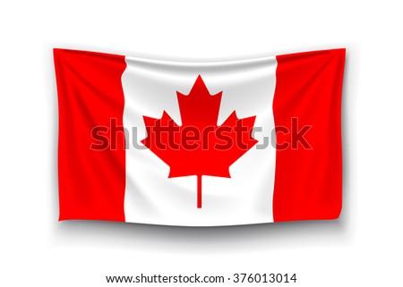 flag of canada - stock vector