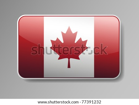 Flag of Canada in the form of an icon for a web of pages - stock vector