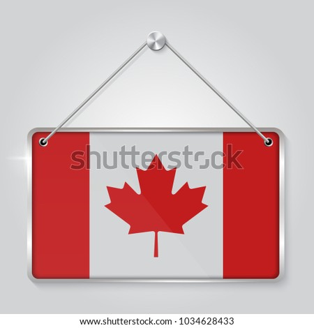 Flag Canada Symbol State Pennant Hanging Stock Vector 1034628433 ...