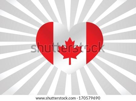 flag of Canada  themes idea design - stock vector