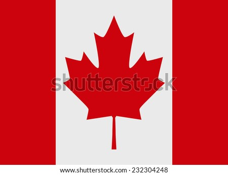 Flag of Canada vector illustration - stock vector