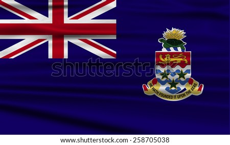 Flag of Cayman Islands with old texture. Vector illustration - stock vector