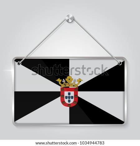 Flag Ceuta Symbol State Pennant Hanging Stock Vector (2018 ...