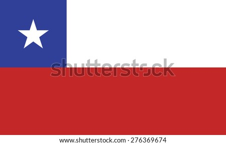 Flag of Chile - stock vector