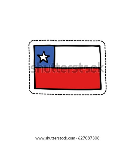 flag of Chile doodle icon