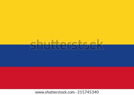 Flag of Colombia - stock vector