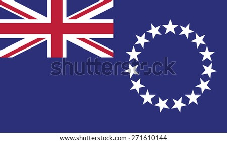 flag of cook islands. vector illustration background - stock vector