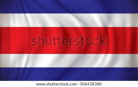 Flag of Costa Rica - vector illustration - stock vector