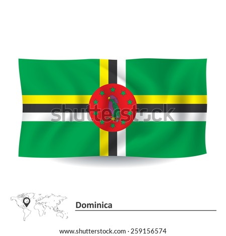 Flag of Dominica - vector illustration