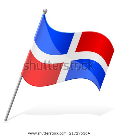 flag of Dominicana vector illustration isolated on white background - stock vector