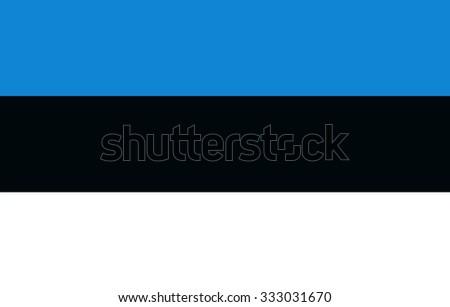 Flag of Estonia - stock vector