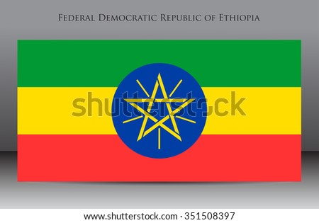 Flag of Ethiopia.Ethiopia flag vector illustration.