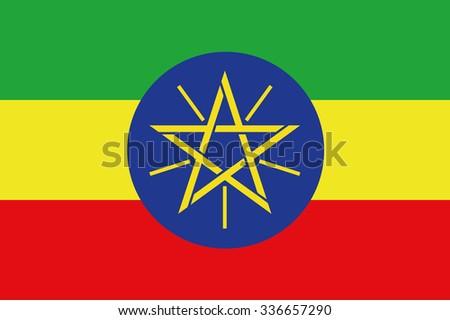 Flag of Ethiopia Vector - stock vector