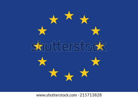 Flag of Europe - stock vector