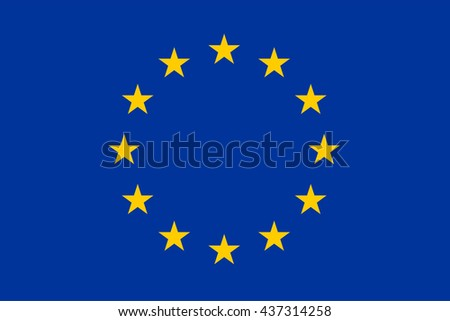 Flag of European Union. - stock vector