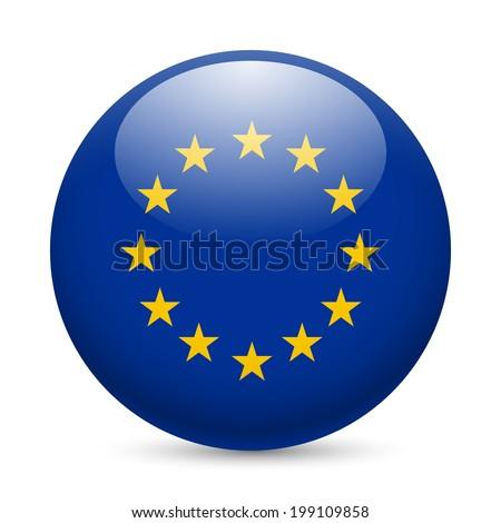 eu flag button stock images royaltyfree images amp vectors