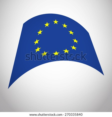 Flag of European Union EU. Vector Icon Illustration Europe Flag For Your Business Presentations