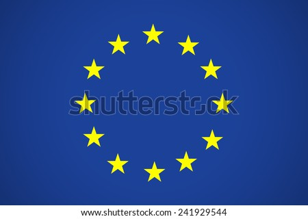 Flag of European Union EU. Vector Icon Illustration For Your Business Presentations - stock vector