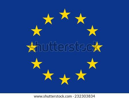 Flag of European Union vector illustration - stock vector