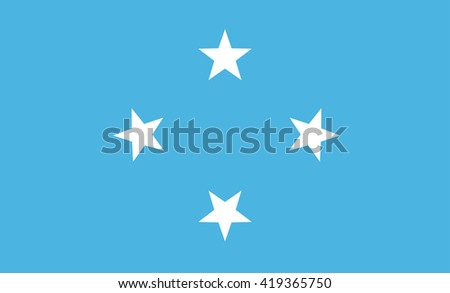 Flag of Federated States Micronesia vector image - stock vector
