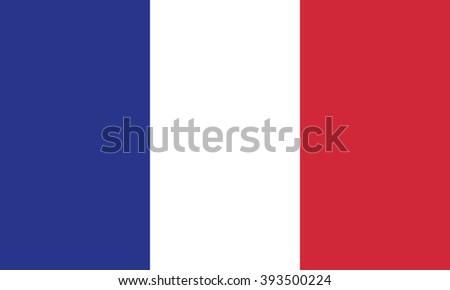 Flag of france - stock vector
