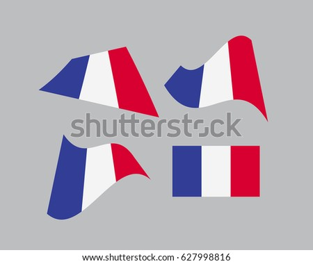 Flag France National Country Symbol Illustration Stock Vector