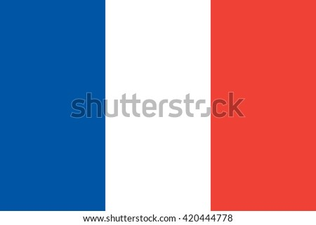 Flag of France. The correct proportions and color. Vector image - stock vector