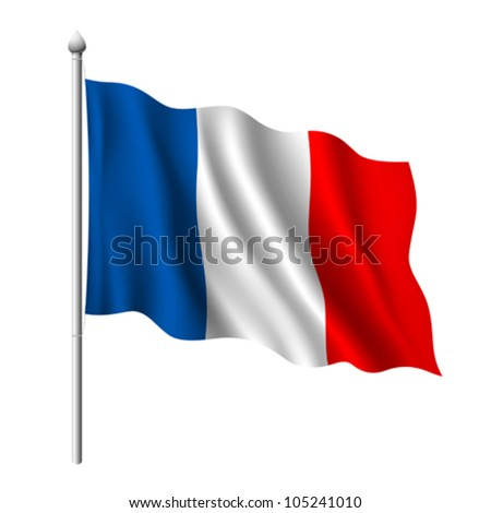 Flag of France. vector illustration - stock vector