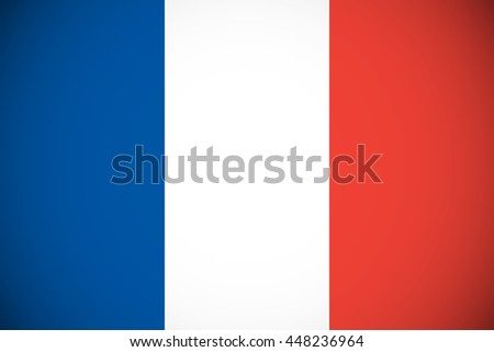 Flag of France with Vignette - stock vector
