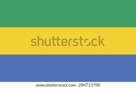 Flag of Gabon - stock vector