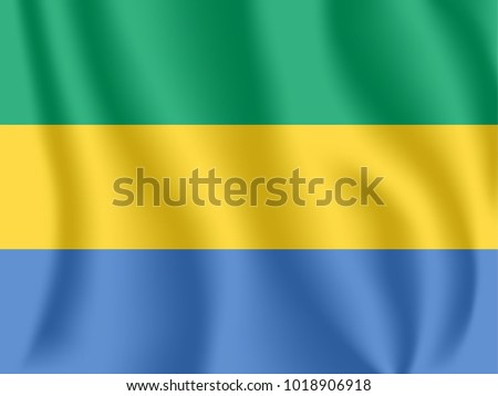 Gabonese republic stock images royalty free images vectors flag of gabon realistic waving flag of gabonese republic fabric textured flowing flag of sciox Gallery