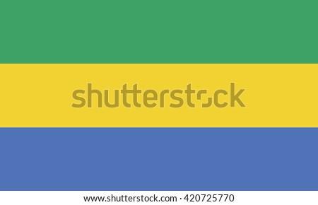 Flag of Gabon. Vector illustration - stock vector