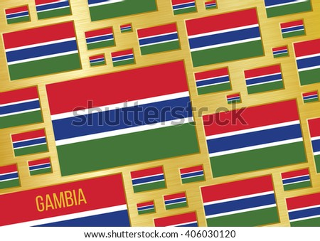 Flag of Gambia. Vector background