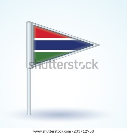 Flag of Gambia, vector illustration