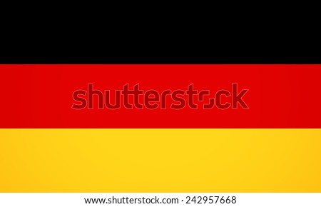 Flag Of Germany For Your Business Presentation. Vector Illustration Flat Icon