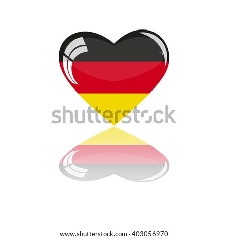 Flag of Germany in the form of heart - stock vector