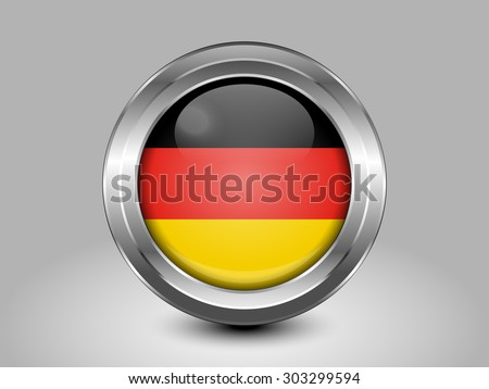 Flag of Germany. Metal Round Icons. This is File from the Collection European Flags - stock vector